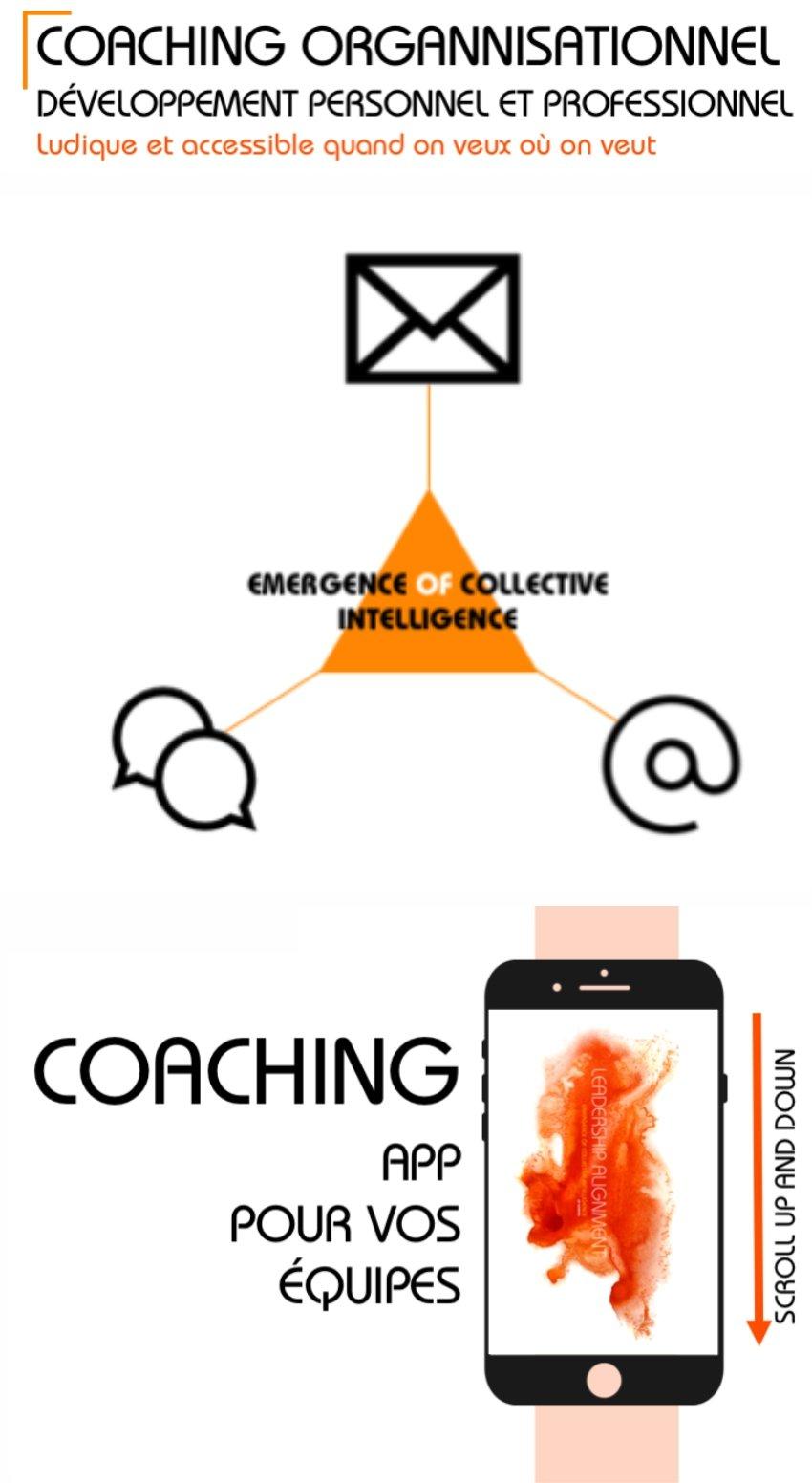 Coaching Organisationnel, Développement personnel et professionnel, Ludique et accessible quand on veut et où on veut, Coaching App pour vos équipes